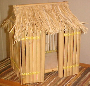 Bamboo hut card box for wedding reception