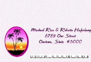 Hawaiian Wedding & Luau RSVP Postcard Front