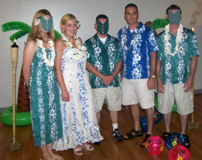 Robbie & Mike\'s Hawaiian Luau Wedding & Reception : Wedding Party Attire